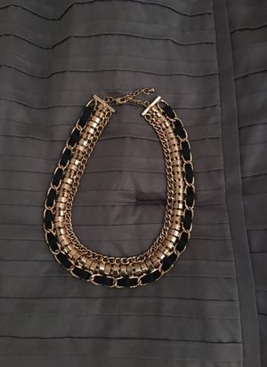 Gold and black necklace for Sale in Houston, TX