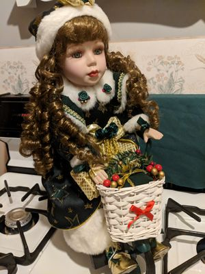 Christmas doll on bike for Sale in St. Louis, MO