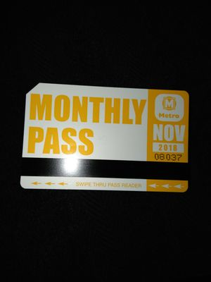 November Bus Pass for Sale in St. Louis, MO