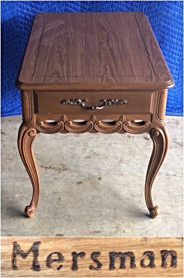 vintage mersman end tables