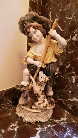 Porcelain Statues (2) - Made in Italy Thumbnail