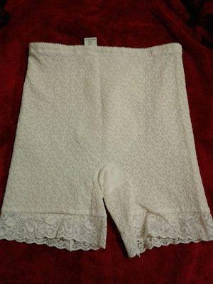Vintage renette lace girdle panty boy shorts large for sale  Broken Arrow, OK