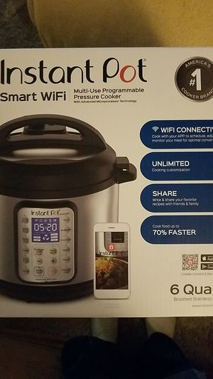 Instant Pot Smart WiFi 6 Quart Electric Pressure Cooker, Silver for Sale in Cary, NC