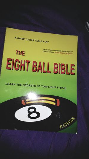 """ the eight ball Bible"" - learn the secrets of top flight 8 ball *by R. Givens for Sale in Cleveland, OH"