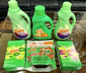 Gain Laundry Detergent and Fabric Softener Bundle for Sale in Lorton, VA