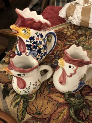 Italian Rooster pitchers for Sale in Arlington, VA