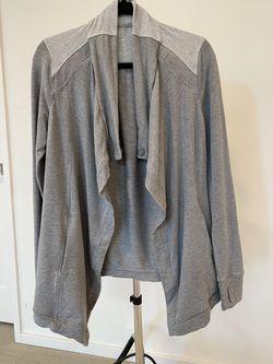 Lululemon Gray Wrap Sweater - Small Thumbnail