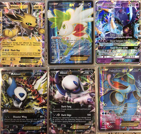 Pokémon Cards Jolteon Ex Shaymin Ex Full Art Toxapex Gx Mega