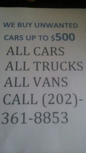 We buy unwanted cars for Sale in University Park, MD