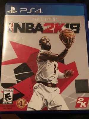 NBA 2k18 for PS4 for Sale in Dallas, TX
