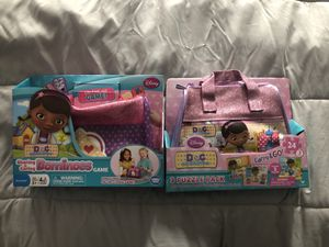 NEW Doc mcstuffins GIFT SETS. puzzles and dominoes game for Sale in Fairfax Station, VA