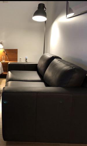 West Elm Urban Leather Sofa - pristine! for Sale in Seattle, WA