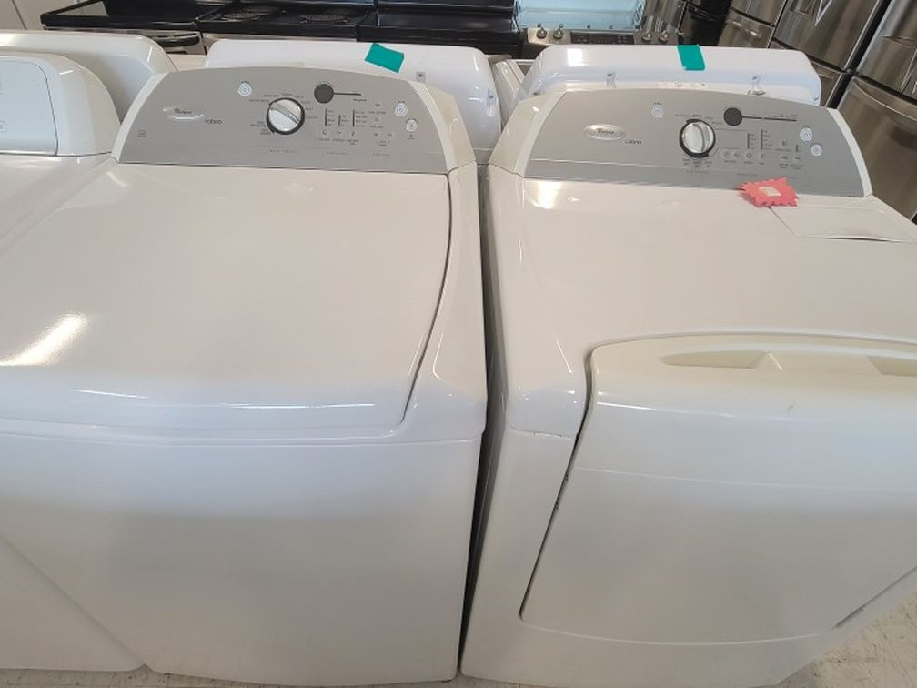 Whirlpool Tad Load Washer And Electric Dryer Set Used In Good Condition With 90day's Warranty