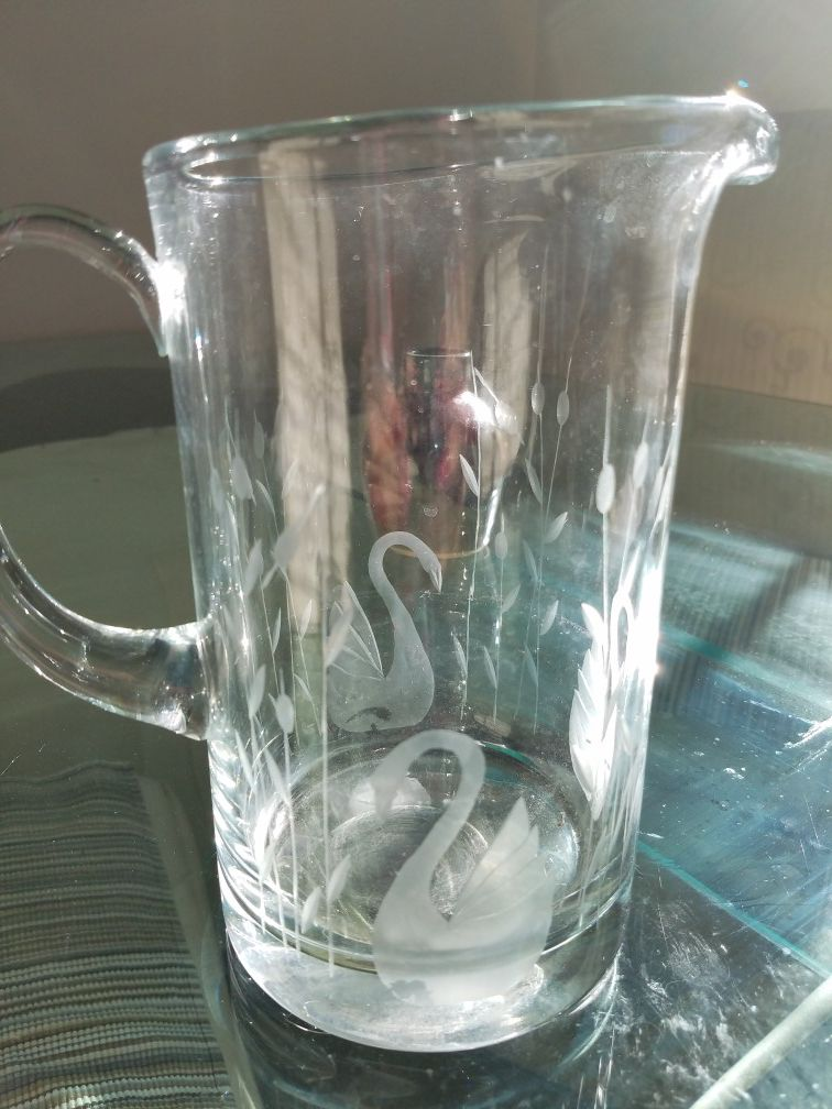 Crystal pitcher princess house
