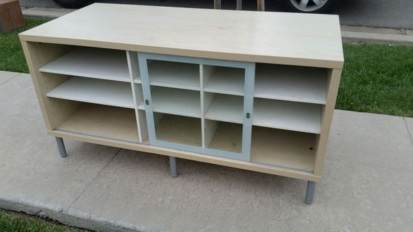 Ikea Cabinet Credenza : Ikea blonde wood tv stand credenza media cabinet for sale in