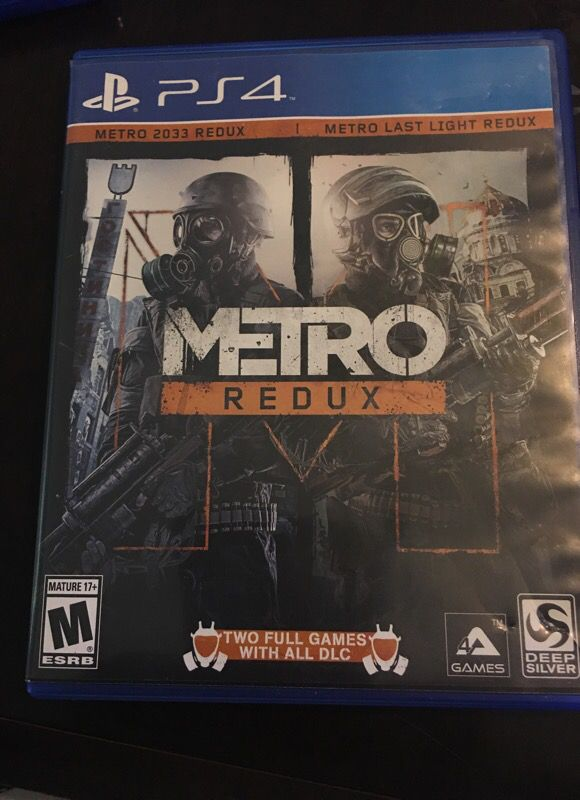Metro Redux Ps4 Game (Read Description) for Sale in Chula Vista, CA
