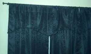 """94"""" black window curtains w/ white sheers & curtain rods for Sale in Gaithersburg, MD"""