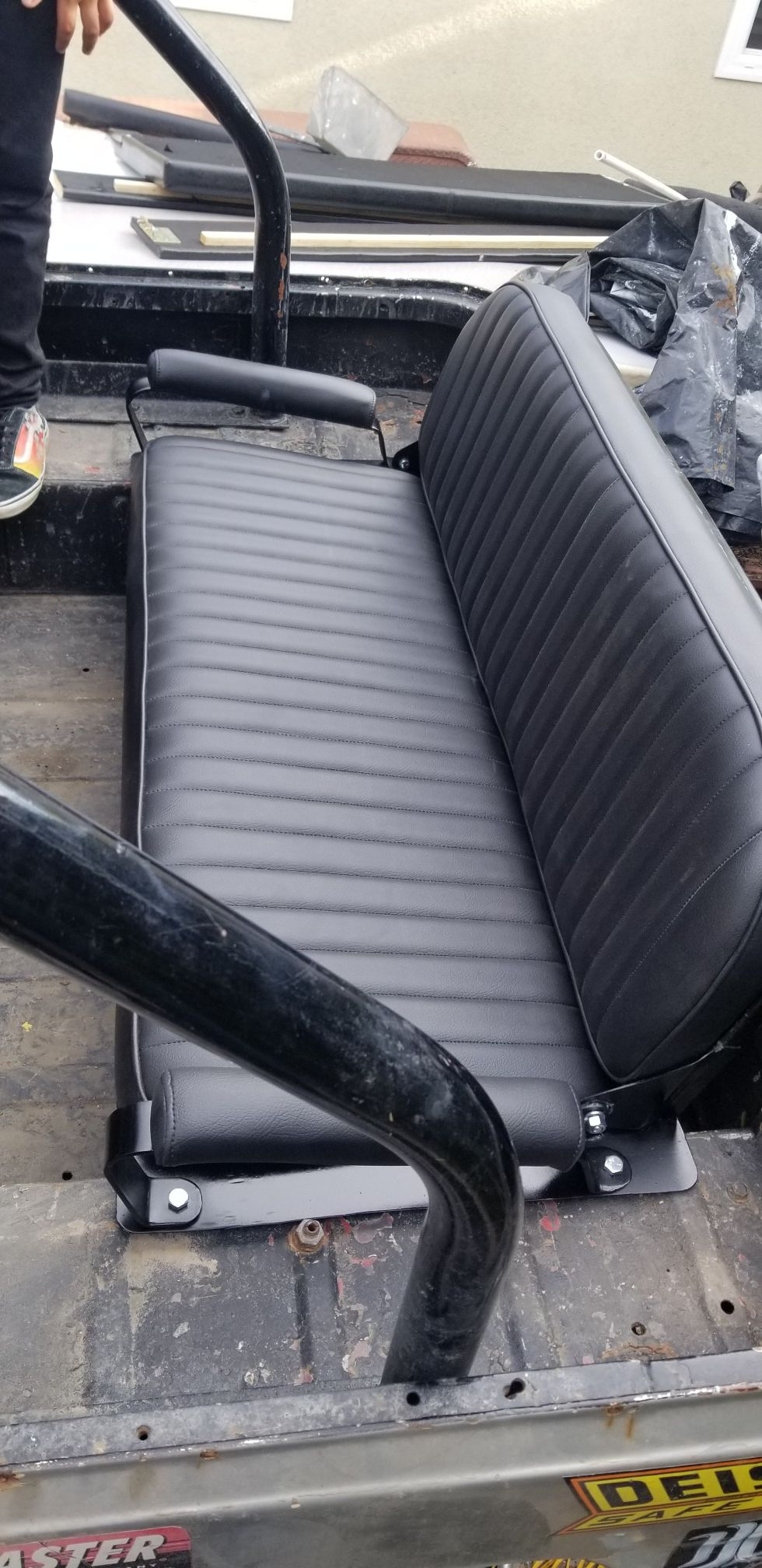 OBO Toyota FJ40 Landcruiser Fj45 Fj40 CONFERR WILL TRADE brand new OEM seat with under mount storage compartment