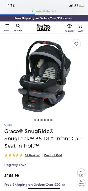 Graco snugride 35 infant car seat for Sale in Carneys Point Township, NJ