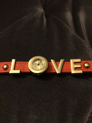 Orange and Gold Leather LOVE Watch Bracelet for Sale in San Diego, CA