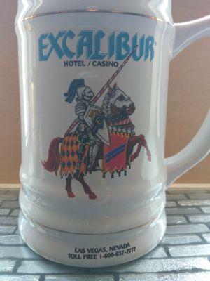 Excalibur Hotel Casino Las Vegas Souviner Beer Stein Mug China Glass for Sale in El Paso, TX