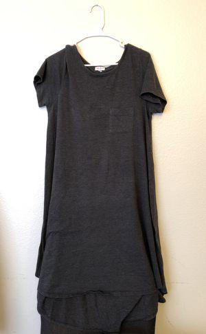 632305d6b898e Large Carly Lularoe dark dark grey for Sale in Las Vegas