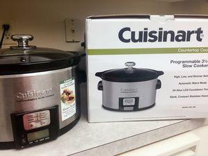 Cuisinart programmable slow cooker 3.5 qt for Sale in Alexandria, VA