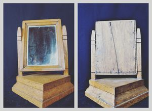 Antique Folk Art Hand Made 1800's Shaving Mirror for Sale in Tekoa, WA