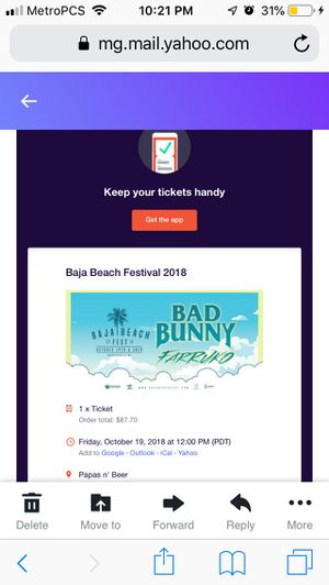 Bad bunny concert ticket for Sale in Hawthorne, CA
