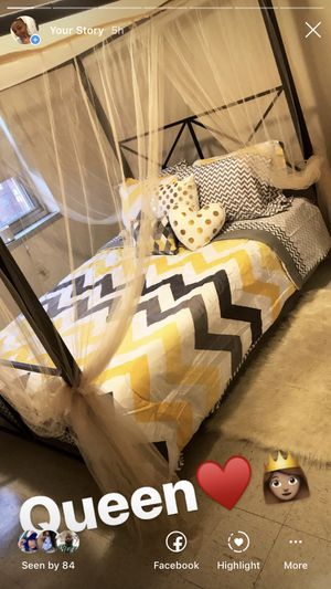 Brand New Queen size canopy bed frame for sale for Sale in Baltimore, MD