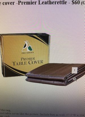 Pool table cover - Premier Leatherette for Sale in Great Falls, VA