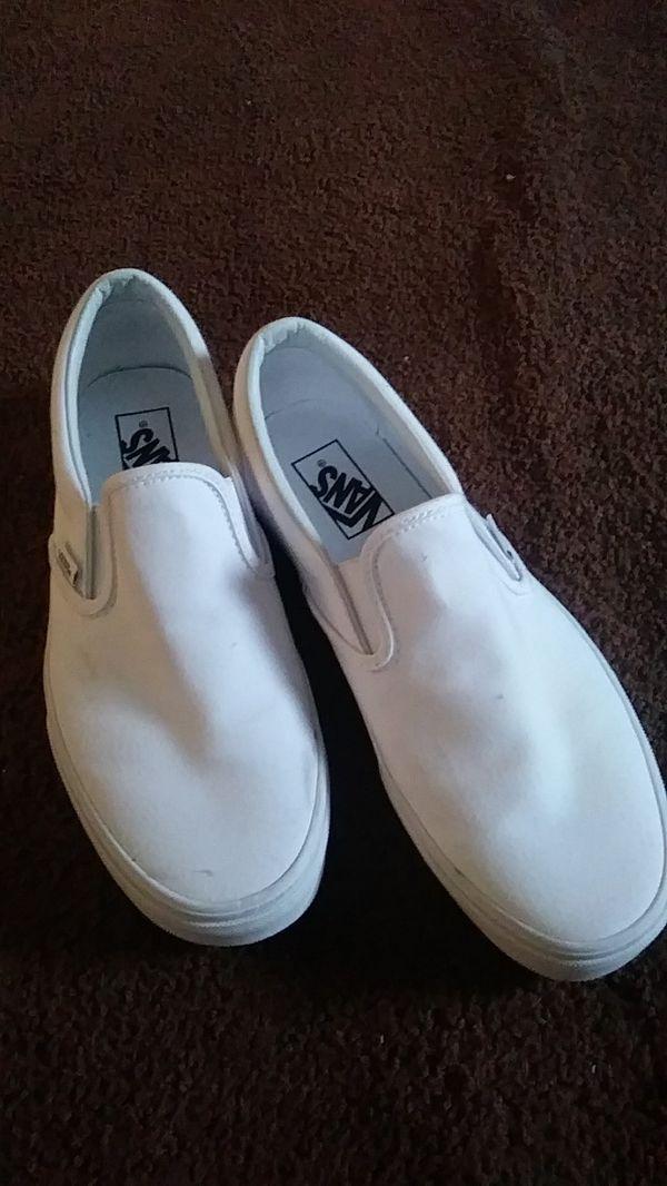 6c7188f552 All white slip on vans for Sale in Pottstown