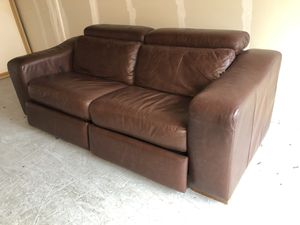 Leather Reclining Sofa for Sale in Seattle, WA
