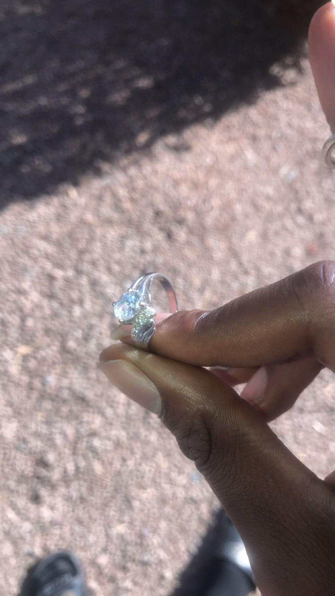 Silver Diamond Ring