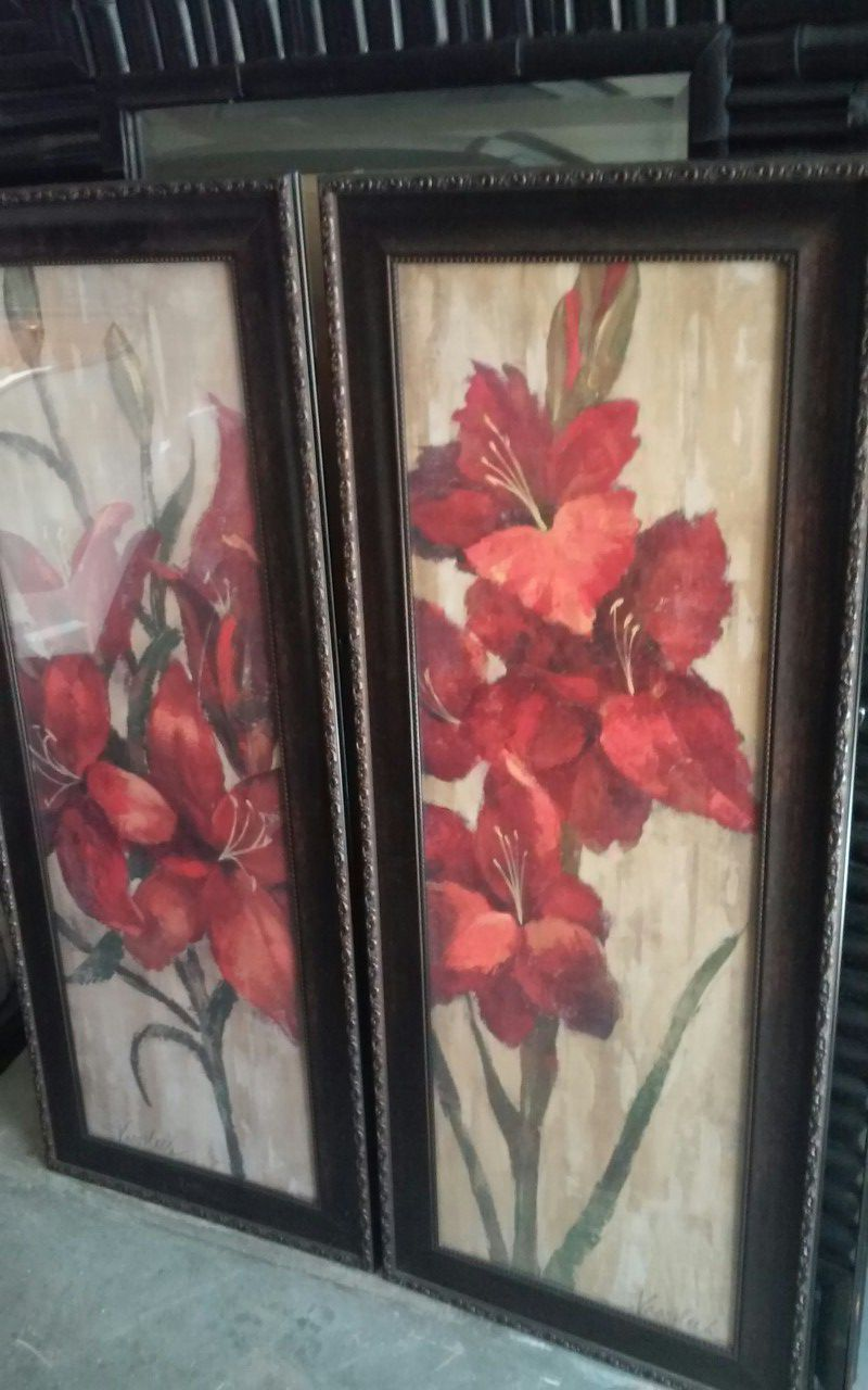 Home interior pictures stand about 2.5 or 3ft tall paid 40 each asking 40 obo for both