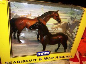BREYER HORSES SEABISCUT & WAR ADMIRAL for Sale in San Diego, CA