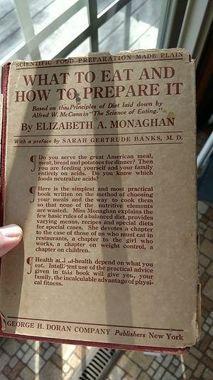 1922 cook book for Sale in Appomattox, VA