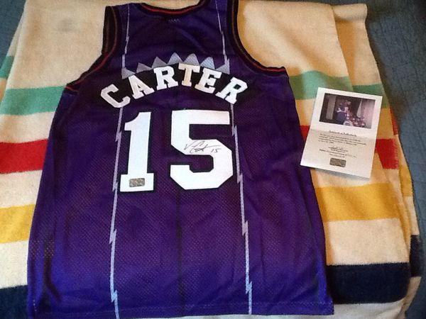check out 05ef9 d91e9 Vince Carter Raptors Rookie Autographed Jersey with COA for Sale in River  Forest, IL - OfferUp