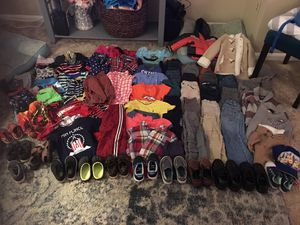 2t and 3t winter boy clothes and size 7 shoes for Sale in Alexandria, VA
