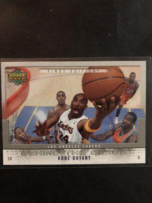 Photo Kobe Bryant 2007-08 Upper Deck Basketball Card Behind the Glass First Edition. Kobe Bryant LA LAKERS Basketball Trading Card