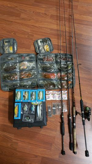 Fishing rods reel and lure for Sale in Sanford, FL