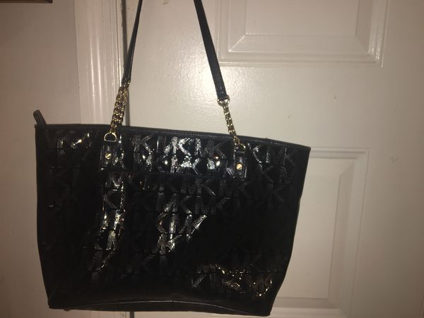 32796faf7005 Michael Kors . Black Patent Leather purse / bag. for Sale in ...