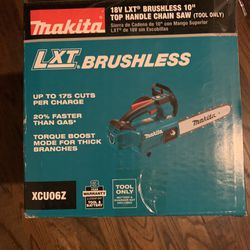 "Makita 18LXT Brushless 10"" Top Handle Chain Saw ""Tool only"" Thumbnail"
