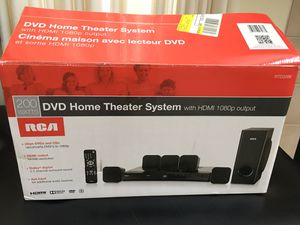 Photo RCA 200-Watt DVD Home Theater System (RTD3266) – 1080p HD, Dolby Digital 5.1 Surround Sound, HDMI Out