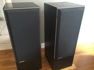 Pair Of Amp Speakers Message For Specifications In Huntington Beach Ca
