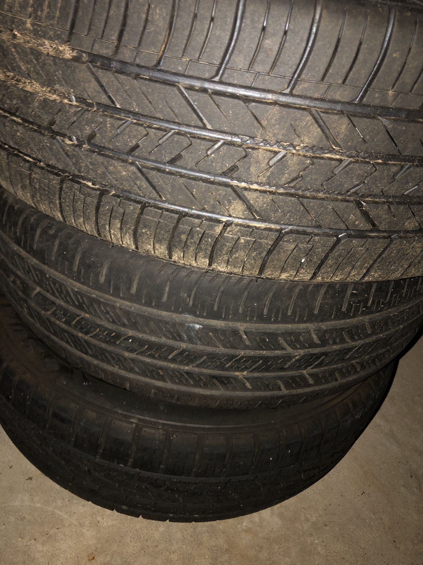 Brand new tires with rims