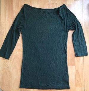 Michael Stars Original Tee in Dark Green (One Size Fits Most) for Sale in Sterling, VA