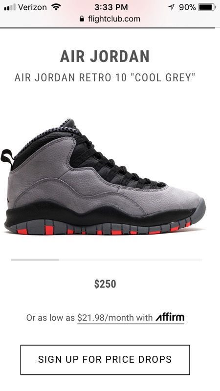 online retailer 0abc7 1efdc Jordan Air Retro 10 Cool Grey /Infrared-Black for Sale in South Gate, CA -  OfferUp