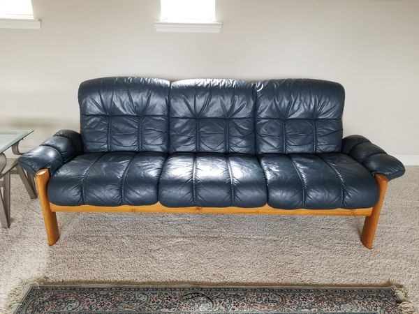 Ekornes Montana navy blue sofa for Sale in The Colony, TX - OfferUp