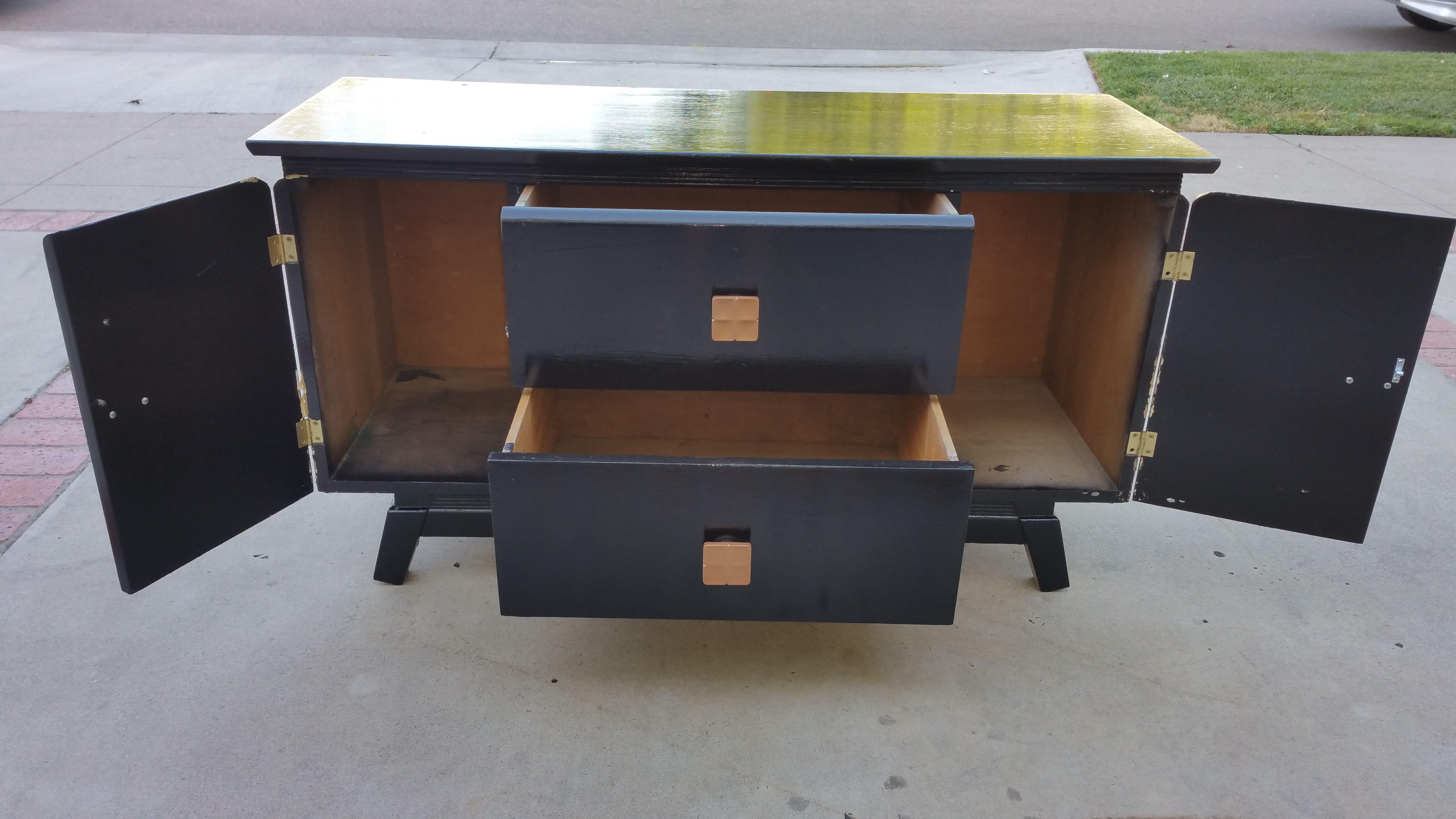 Black Console Cabinet